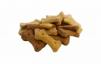 Kluifjesmix zijn botjes in drie verschillende smaken. Het zijn knapperige en heerlijk biscuits voor uw hond. De koekjes kunnen als beloning, maar ook als lekkernij gegeven worden aan uw hond.