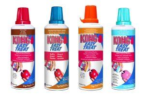 De Kong Easy Treat spuitbus bevat een smakelijke pasta voor het vullen van onder andere Kong hondenspeelgoed. Speciaal ontwikkeld om beloningsspeelgoed gemakkelijk te vullen!