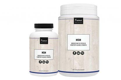De Frama MSM ondersteunt de vacht, gewrichten, spieren en pezen. Het is een hoogwaardig product op basis van zuivere, zeer fijne, MSM kristallen.
