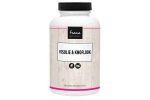 De Frama Visolie & Knoflook is voor de verbetering van de algemene conditie. En daarnaast werkt het ook anti-parasitair. Dit product bevat een uitmuntende kwaliteit zuivere, wilde visolie gecombineerd met wilde knoflook. Visolie biedt ondersteuning van hart- en bloedvaten en het helpt bij een droge, ruwe en/of gevoelige huid. Het zorgt tevens voor een betere vachtconditie met een mooie glans. Knoflook staat bekend als anti-parasitair, het werkt direct tegen vlooien. Bovendien geeft het meer vitaliteit, vergroot het het uithoudingsvermogen en activeert het het afweersysteem. Eigenschappen Frama Visolie & Knoflook Inzetbaar bij vacht- en huidproblemen Geschikt als anti-worm product Werkt tegen vlooien Ter verbetering van de algehele conditie 200 capsules Samenstelling Visolie 500 mg (18% EPA, 12% DHA) Knoflookextract 5 mg Glycerine Gelatine van dierlijke herkomst Gebruiksaanwijzing Kat:1 tot 2 capsules per dag door het voer mengen Hond:1 capsule per 5 kg lichaamsgewicht (tot een maximum van 4 capsules) door het voer mengen Let op!Bij langdurige inname van knoflook kan de opnamen van ijzer minder worden. Dit kan resulteren in bloedarmoede, maar dit is alleen bij langdurig hoog gedoseerd gebruik). Bij verbetering kan de dosering verlaagd worden en eventueel in lagere dosering doorgaan. Of er kan overgegaan worden op onderhoud met gewone visolie (zonder knoflook).