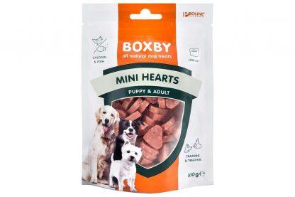 De Proline Boxby Puppy Snacks Mini Hearts zijn speciaal ontwikkeld jonge honden. De snacks zijn niet te groot en makkelijk kauwbaar door het puppygebit.
