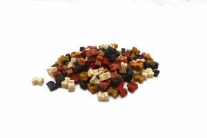 Hondensnoepjes Soft Bone Mini Mix zijn zachte kleine beloningssnoepjes voor je hond. De beloningssnoepjes voor de hond zitten in een zakje of in een pot en zijn van ons eigen merk.