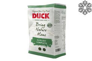 Duck Excellent Compleet is geschikt voor alle honden, wordt bijzonder aanbevolen voor werkende honden en pups. Verkrijgbaar in 1 kg of 8 kg verpakking.