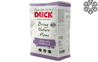 Duck Lam & Rijst graanvrij is diepvriesvoeding speciaal voor honden. Zeer geschikt voor onder andere te magere honden, maar ook voor honden met een intolerantie voor mais, tarwe of rund.