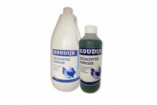 Koudijs Eucalyptus reiniger is ideaal voor het reinigen van kooien en alle andere dieren verblijven. Heeft een zeer aangename geur en is niet schadelijk voor dieren, biologisch afbreekbaar.