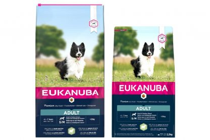Eukanuba Adult Small Medium Lam & Rijst is droge hondenvoeding voor alle volwassen rassen. Eukanuba droogvoer in brokvorm is rijk aan lam en rijst en perfect voor volwassen honden van kleine en middelgrote rassen.