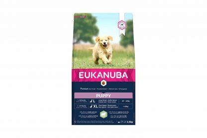 Eukanuba Puppy & Junior Large Lam & Rijst droge hondenvoeding is rijk aan lamsvlees en rijst, voor alle puppy's met een gevoelige spijsvertering. Eukanuba droogvoer in brokvorm is rijk aan lam en rijst en perfect voor opgroeiende pups van grote rassen van leeftijd van 1 tot 12 maanden.