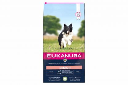 Eukanuba Senior Small Medium Lam & Rijst is hondenvoeding voor elk ras met gevoelige huid en maag, rijk aan lamsvlees. Eukanuba droogvoer in brokvorm is rijk aan lam en rijst en perfect voor senior honden van kleine en middelgrote rassen.