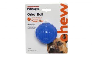 Petstages Orka ball kauwspeelgoed is speciaal ontwikkeld voor honden die gek zijn op kauwen. Deze unieke speeltjes zijn gemaakt van duurzaam, niet giftig, synthetisch rubber.