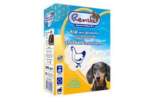 Renske Kip is een gestoomde Vers Vlees Maaltijd, voor jonge en volwassen honden van alle rassen vanaf 9 weken.