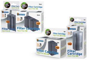 De Aqua Flow Easy Click Cartridge is een standaard vervangbare Filter Cartridge voor de Aqua-Flow filter. Bovendien bevat deze cassette filterschuim met open structuur en Actieve Kool, dat organisch vuil, chemicaliën en kleurstoffen uit het water verwijdert.