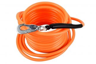 De zoek- en trainingslijn oranje bestaat uit een dunne kabel, die wordt beschermd door een dik plastic omhulsel. Dit maakt dat deze lijn zeer sterk is en goed te gebruiken is bij het trainen.