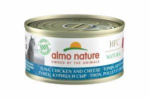 Almo Nature HFC Cuisine - tonijn, kip en kaas is een heerlijke natvoeding volgens het bekende en traditionele receptuur van Almo Nature.