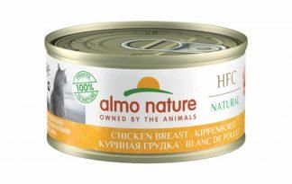 Almo Nature HFC Natural - kippenborst is een heerlijke natvoeding volgens het bekende en traditionele receptuur van Almo Nature. Bereid met weinig ingrediënten en gewoon gekookt in bouillon of au bain marie.