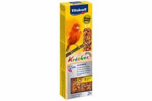 De Vitakraft kanariekracker Colorboostis een speciale kracker ter versterking van de felle kleuren. Alle belangrijke mineralen en vitaminen worden aangevuld en de felheid van de kleuren wordt versterkt. Zorgt tevens voor extra vermaak, want voor elk korreltje moet door de vogel 'gewerkt' worden zoals in de vrije natuur.