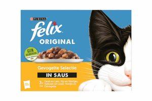 Felix Selectie in Saus is een heerlijke klassieker met lekkere stukjes met vlees of met vis in een sappige saus.