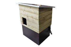 Buitenverblijf landschildpadden Nature-160 is een degelijk en net afgewerkt buitenterrarium met serre. Het terrarium is vervaardigd uit een geïmpregneerd houten frame, bedekt met multiplex en geïmpregneerde rabatdelen.