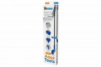 De Superfish Aqua Tool is een complete aquarium kit bestaande uit verschillende accessoires. Deze set bestaat onder andere uit een schepnetje, ruitspons, plantenvork, grindhark en algenstekers.