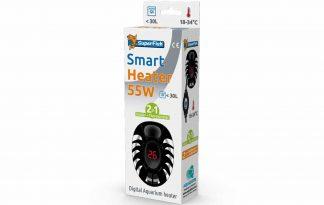 De Superfish Smart Heater 2 in 1 is een digitale mini onderwaterverwarming van 55 Watt en thermometer in één. De Smart Heater is geschikt voor kleine aquaria tot 30 liter. De decoratieve ovale vorm zorgt voor een perfecte montage in kleine aquaria.