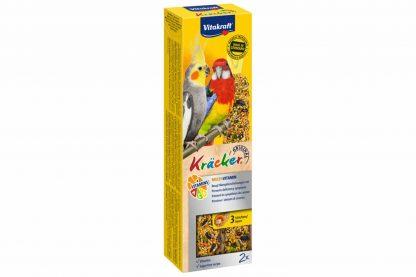 De Vitakraft valkparkietkracker ACE-vitamineis een speciale Kracker ter ondersteuning van de algehele gezondheid. Alle belangrijke mineralen en vitaminen worden aangevuld.