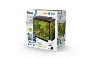 De Superfish Start 30 Tropical Kit Aquarium is een starterkit met energiezuinige LED-verlichting. Ook heeft het aquarium een binnenfilter en handige accessoires om de aquariumhobby te starten. Het aquariumdeksel heeft een klepje om het voeren van de vissen gemakkelijk te maken. Het heldere witte licht is perfect voor plantengroei.