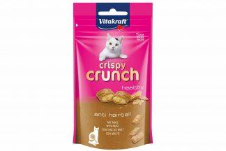 De Vitakraft Crispy Crunch mout anti-haarbal zijn lekkere zachte kussentjes met een heerlijke functionele crèmevulling. De Vitakraft Crispy Crunch zijn een absoluut hoogtepunt voor uw kat!