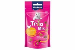 De Vitakraft Trio Mix gevogelte is een leuke mix van verschillende vormen snoepjes in heerlijke smaken.