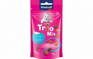Vitakraft Trio Mix visis een heerlijke knapperige mix van verschillende brokjes en kussentjes.