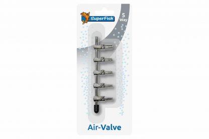 De Superfish Air-Valve luchtkraan blister is een verbindingsstuk om de lucht te verdelen over meerdere uitgangen. De blister is uitgevoerd in RVS, roest niet en gaat dus langer mee.