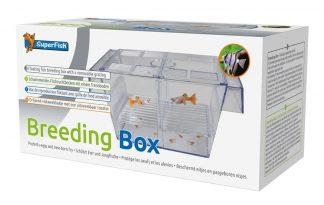 De Superfish Floating Breeding Box is een kweekbak voor jonge vissen. Kweekbakjes zorgen er tevens voor dat de eieren en/of pasgeboren visjes veilig gescheiden zijn van andere aquariumbewoners.