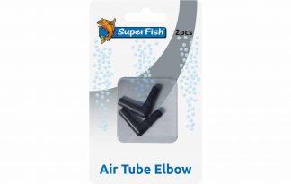 De Superfish luchtslang adapter Elleboog is een adapter met een hoek van 90 graden voor luchtslangen.