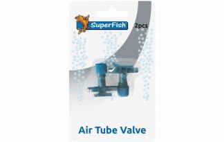 De Superfish luchtslang kraan is een handige toebehoren voor het aansluiten en regelen van de luchttoevoer. Daarnaast is het voorzien van een een terugslagventiel om de pomp veilig onder het waterniveau te kunnen plaatsen.