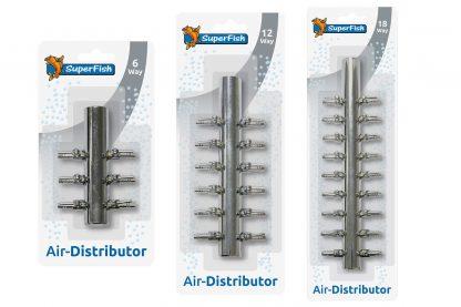 Het Superfish RVS verdeelstuk is ontwikkeld om de lucht van de luchtpomp te verdelen over meerdere uitgangen. Uitgevoerd in RVS, roest niet en gaat dus langer mee.