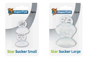 De Superfish Sterzuiger komt in een verpakking met2 stuks en is bedoeld voor het houden van bijvoorbeeld een thermometer, luchtslang of warmte-element.