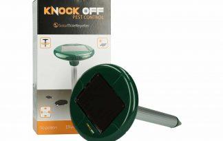 De Knock Off Mollenverjager werkt op zonne-energie en daardoor heb je geen batterijen nodig. Daarnaast is het diervriendelijk, doordat er niet met giftige stoffen wordt gewerkt.