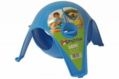 Het knaagdierenhuis Sputnik is een leuke huisje voor hamsters, muizen en gerbils. The Sputnik kan op de vloer geplaatst worden maar kan ook aan de tralies aan de bovenkant gehangen worden.
