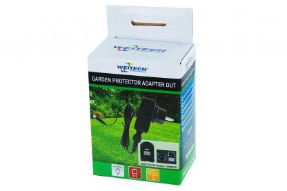 De Weitech Garden Protector Adapter Outdoor is een netadapter voor de Garden Protector 2. Hij kan zowel binnen als buiten worden gebruikt.