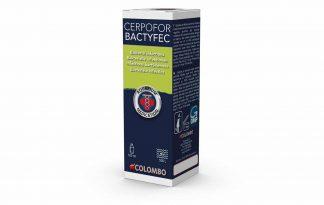 Colombo Cerpofor Bactyfec is werkzaam tegen bacteriële infecties, zoals vinrot, gatenziekte (huidzweren), bekschimmel en andere ziekteverschijnselen die worden veroorzaakt door bacteriële infecties.