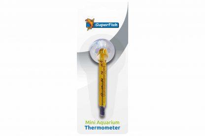 De Superfish Aquarium thermometer mini is niet alleen duidelijk afleesbaar, maar ook heel nauwkeurig. Daarnaast is de thermometer geschikt voor tropische en zeewateraquaria. Makkelijk op elke plek van het aquarium op te hangen, doordat de thermometer is voorzien van een zuignap.