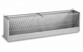 Gaun Metalen hooiruif opvangmodel en achterpaneel 200 cm