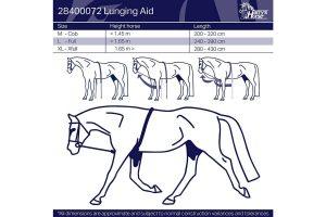 Harry's Horse longeerhulp Soft is een zeer geschikt trainingsmiddel voor bij het longeren om de bovenlijn van het paard te stretchen. Daarnaast zorgt de longeerhulp ervoor dat het paard nageeft. Tevens is deze hulp ruim verstelbaar.