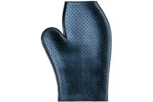 De Harry's Horse washandschoen is gemaakt van rubber. De handschoen is voorzien van kleine nopjes, wat ideaal is bij het wassen.