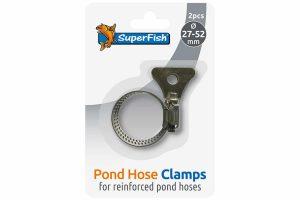 De Superfish slangklem RVS met vleugel is gemaakt voor het vastzetten van gewapende vijverslangen. De RVS slangklemmen zijn voorzien van een vleugelmoer zodat je de klem gemakkelijk aan kunt draaien.