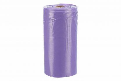 De Trixie poepzakjes zijn voorzien van een frisse lavendelgeur. Daarnaast passen de poepzakjes in elke standaard houder, bijvoorbeeld de Trixie poepzakdispenser. Ook verkrijgbaar met citroengeur of rozengeur.