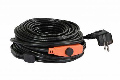 Vorst beschermdraad met thermostaat zorgt ervoor dat leidingen niet bevriezen tijdens extreem koude dagen. De kabel heeft een ingebouwde thermostaat, waardoor waterleidingen ook werken met temperaturen onder nul.