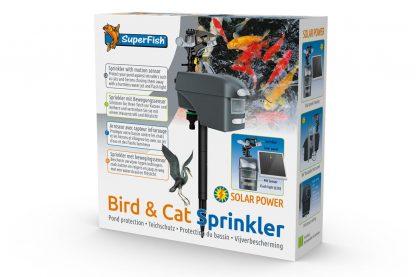 De Bird & Cat Sprinkler is voorzien van een bewegingssensor die ongewenste bezoekers detecteert en verjaagt, doormiddel van een krachtige waterstraal en lichtflitsen (LED). De Sprinkler is tevens eenvoudig te installeren.