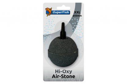 De Hi Oxy Airstone XXL is een grijze luchtsteen, gebakken bij zeer hoge temperatuur. Daardoor produceren deze stenen zeer fijne luchtbellen en gaan ze langer mee. De steen heeft daarnaast een doorsnee van 50 mm.