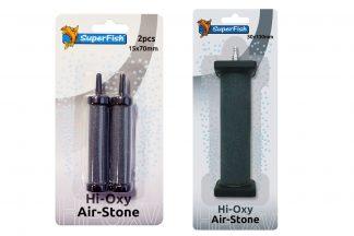 De Superfish Hi Oxygen Airstone is gemaakt van Carborundum en gebakken bij hoge temperaturen. Daardoor produceren deze stenen zeer fijne luchtbellen en gaan ze langer mee.