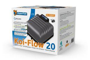 De Koi Flow professionele beluchtingsset is een luchtpomp voor grotere vijvers en koi-vijvers. De pompen hebben bovendien een hoge luchtopbrengst variërend van 20 tot 60 liter per minuut en daarnaast een laag energieverbruik.