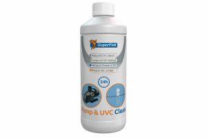 Superfish Pump & UVC Clean is een natuurlijk zuur dat de kalkaanslag oplost en je pomp reinigt. Regelmatig reinigen van je vijverpomp is noodzakelijk voor een efficiënte werking, langere levensduur en behoud van garantie.
